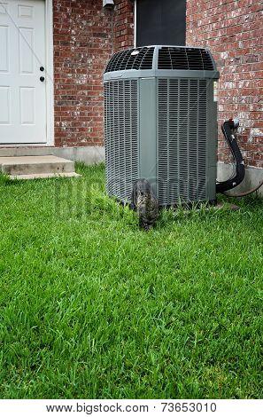 AC on backyard
