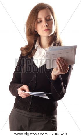 young women reading post