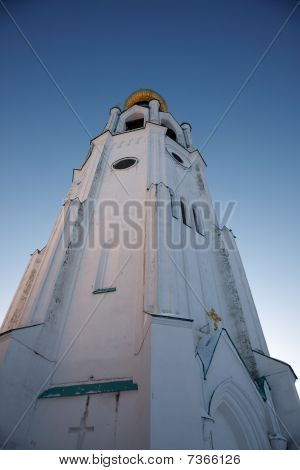 Wide Angle Image Of Sophia Cathedral Bell Tower, Vologda, Russia