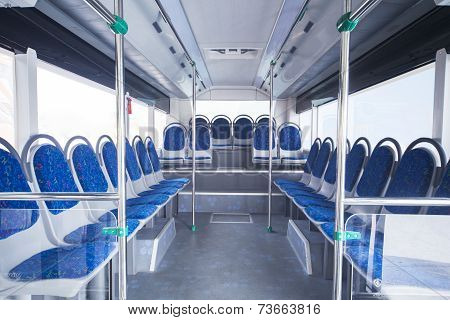 Seats Of Bus As Public Transportation