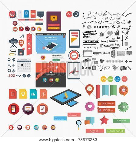 Huge web graphic collection including web template