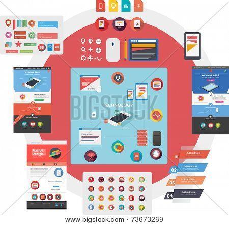 Large set of web graphics