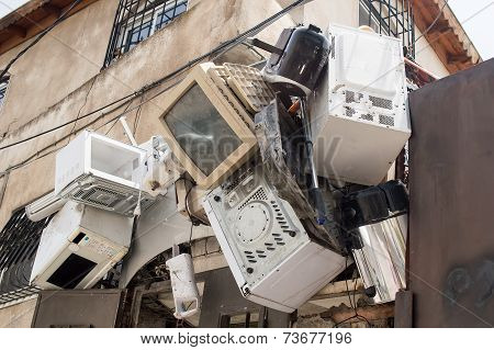 Electronic Equipment Hanging On A Wall