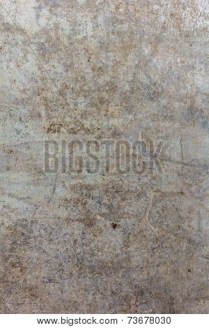 Old Zinc Plate Surface