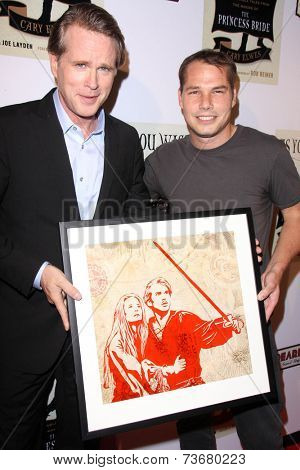 LOS ANGELES - OCT 6:  Cary Elwes, Shepard Fairey at the