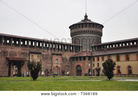 Court of Castello Sforzesco, Milan, Italy