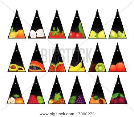 Sistema de la tarjeta con frutas tropicales