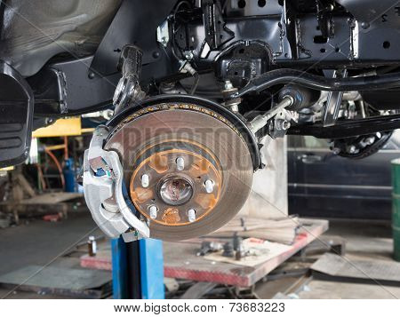 Wheel and disc break in maintenance process