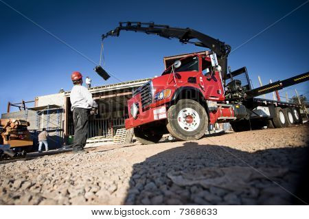 Crane In Operation