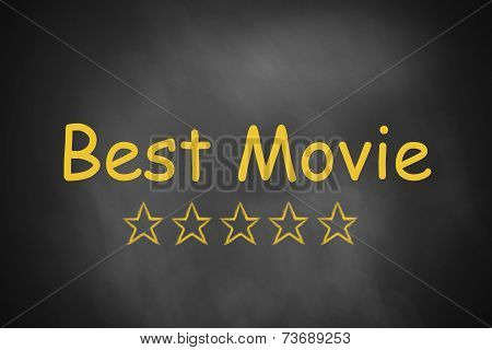 Black Chalkboard Best Movie Golden Stars
