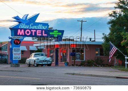 Americana Blue Swallow Motel Route 66