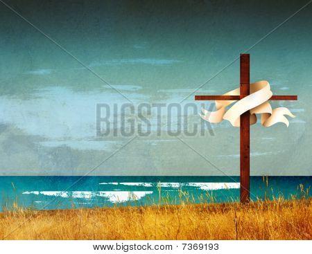 Religious Cross Easter