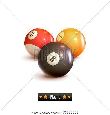 Billiard balls isolated
