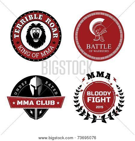 MMA Labels - Mixed Martial Arts Design