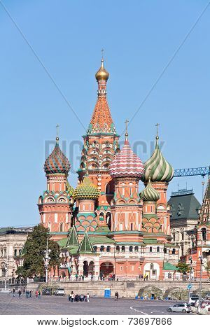 Moscow. Temple Of Vasiliy Beatific (pokrovsky Is A Cathedral)