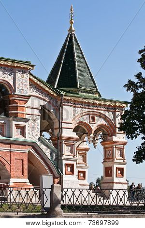 Temple Of Vasiliy Beatific. Porch