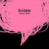 Scribble pink background, vector illustration for your design poster