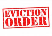 EVICTION ORDER red Rubber Stamp over a white background. poster