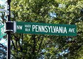 White House 1600 Pennsylvania Ave Washington DC. poster