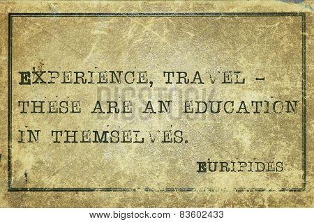 Expirience Euripides