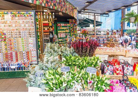 The famous flower market in Amsterdam