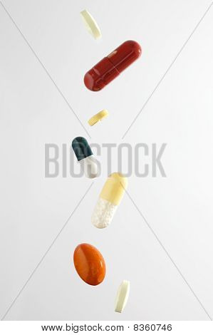 Falling Medicine Pills