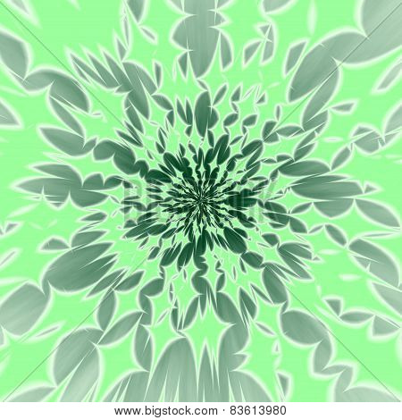 Abstract centralized greenish background with radiant four-pointed stars