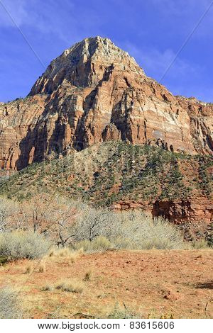 Zion National Park - Geological wonder of Mountains, rivers and Sandstone was ancient home of the Anasazi people and rich in Native American culture. poster