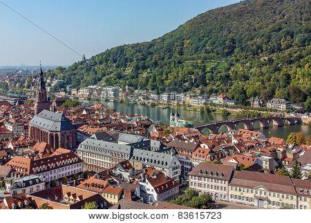 Top View Of The Heidelberg,germany