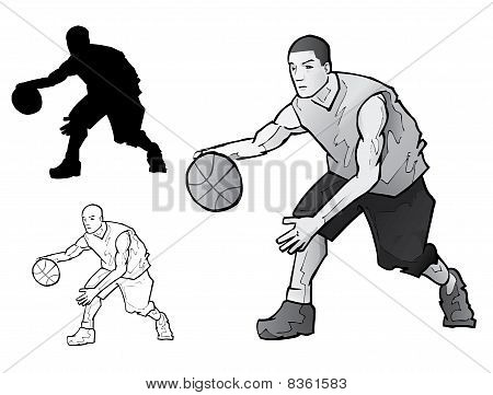 Basketball crossover illustration