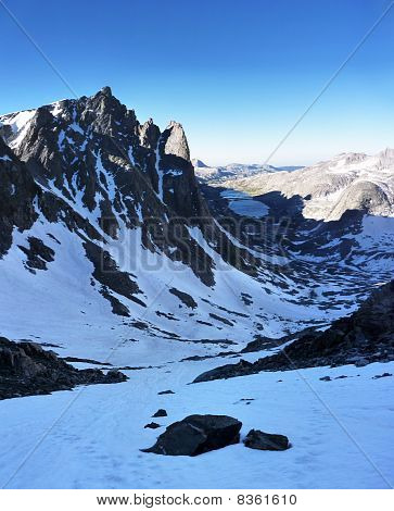 Mount Helen and Titcomb Basin viewed from high on Bonney Pass Wind River Range Wyoming poster