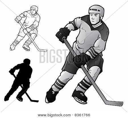 Vector Hockey Player.eps