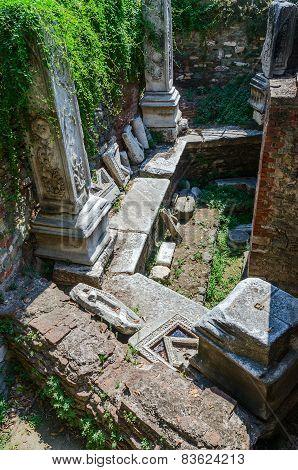 Ruins Of Turkish Baths Of The Xv Century Bey Hamam