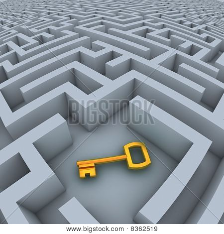 key in the labyrinth