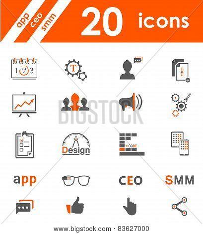 Set Of Icons App, Seo, Smm