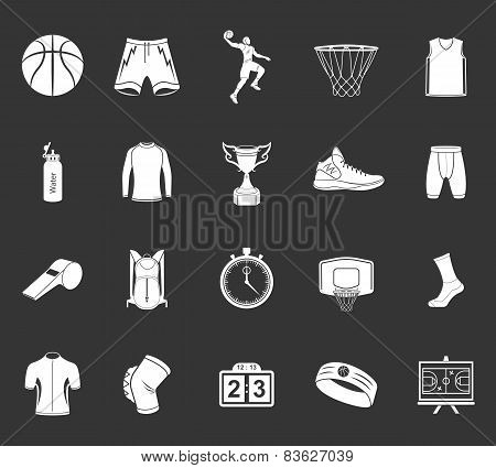 Set Of Icons Basketball
