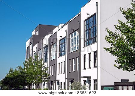 Modern serial housing in Berlin
