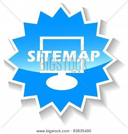 Sitemap blue icon