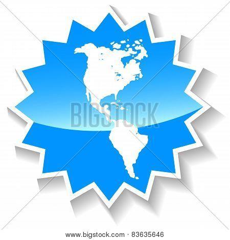 Continental Americas blue icon