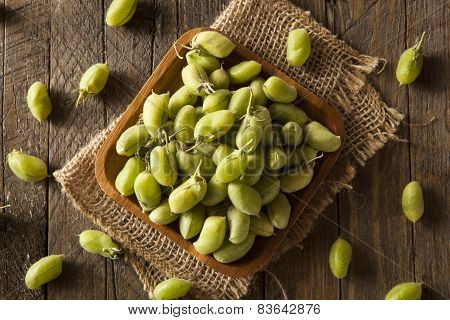 Raw Fresh Organic Green Garbanzo Beans
