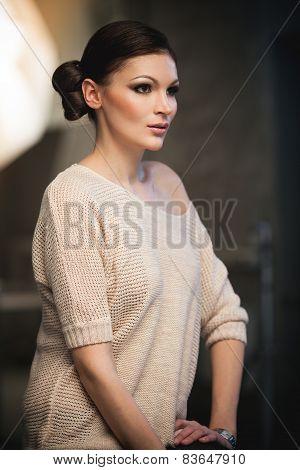 Lady in studio