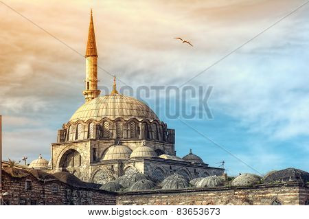 Yeni Cami Mosque The New Mosque in Istanbul Turkey poster