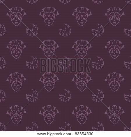 Venetian masks pattern