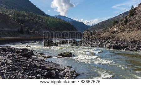 Kayakers in Rapids of the Fraser Canyon