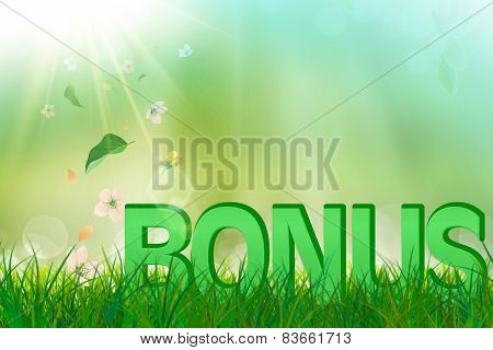 Summer bonus in  green and fresh grass and flowers