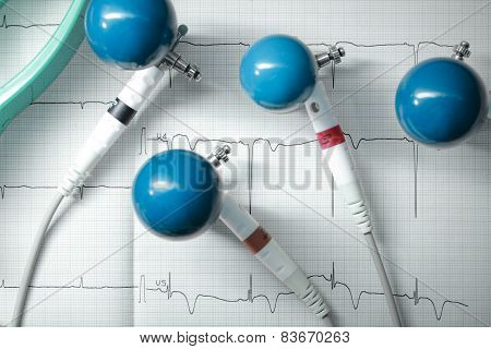 Ecg Electrodes For Measurement, Concept Of Healthcare