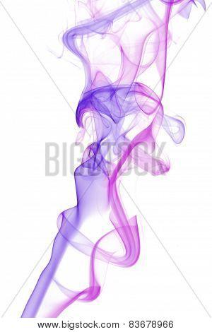 Pink And Purple Smoke Abstract