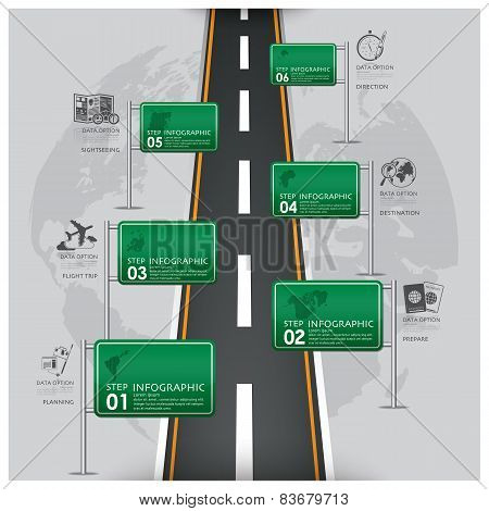 Road And Street Traffic Sign Business Travel Infographic