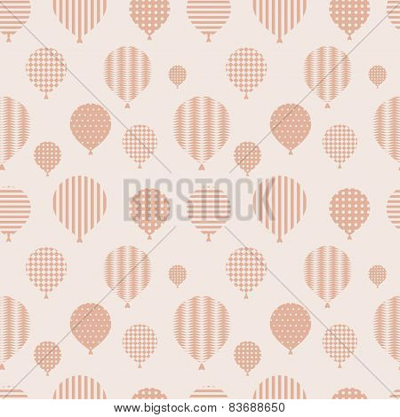 Seamless Pattern With Balloons.