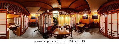 European Restaurant In Bright Colors